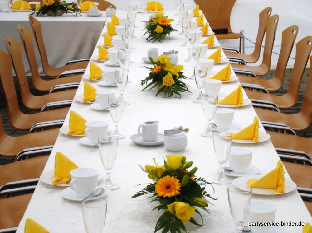 Partyservice henry binder ihr partner in sachen catering for Partydekoration berlin